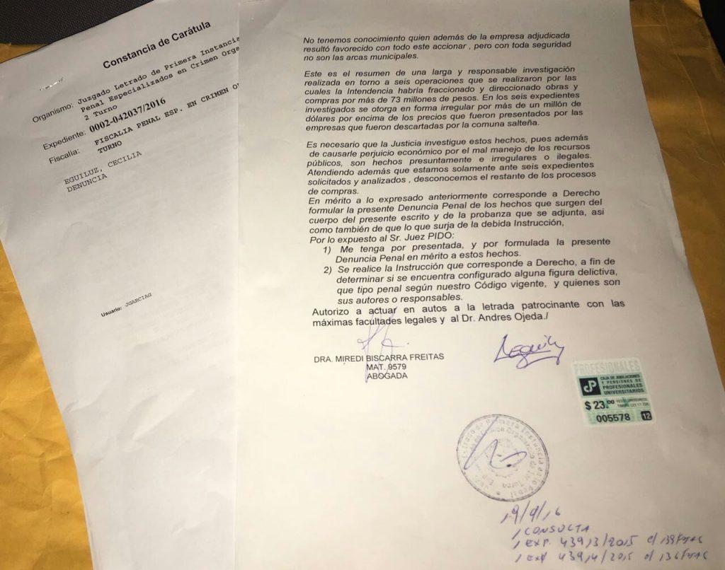 Denuncia Penal contra Andrés Lima